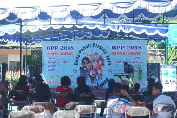 Wadahi Kreativitas Siswa, SMA Bopkri 2 Yogyakarta Gelar Boda Peduli Prestasi