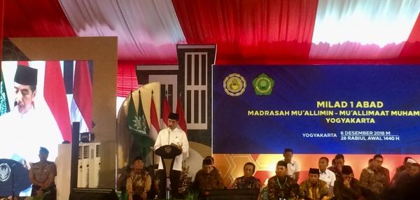 Presiden Joko Widodo Hadiri Milad Satu Abad Muallimin Muallimaat Muhammadiyah di Yogyakarta