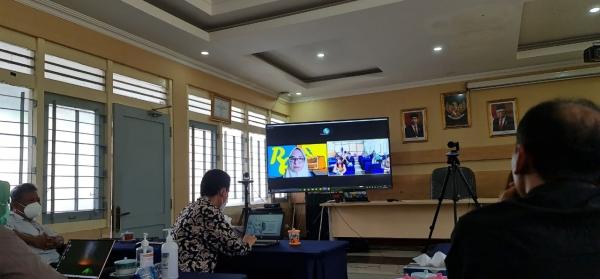 Rapat Koordinasi dengan Pusdatin dalam Pengembangan Bahan Belajar yang Memanfaatkan Media Audio