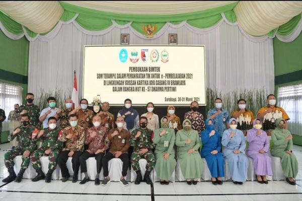 Bimbingan Teknis kerjasama antara Yayasan Kartika Jaya Cabang IV Brawijaya, Pusdatin dan BPMRPK  Kemdikbud